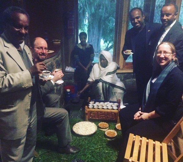 Coffee Ceremony in Ethiopia during Regional Environmnetal Diplomacy Institute