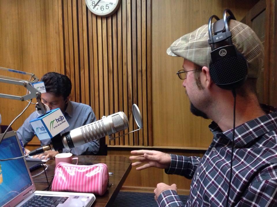 Radio interview in Ecuador