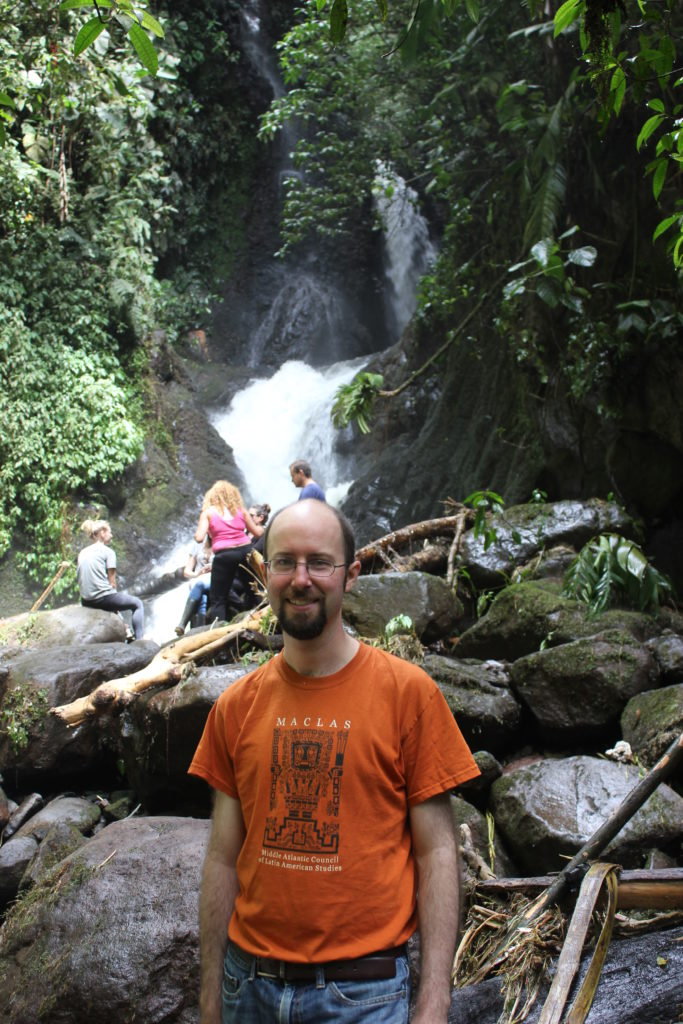 Jeff in Amazon cloud forest