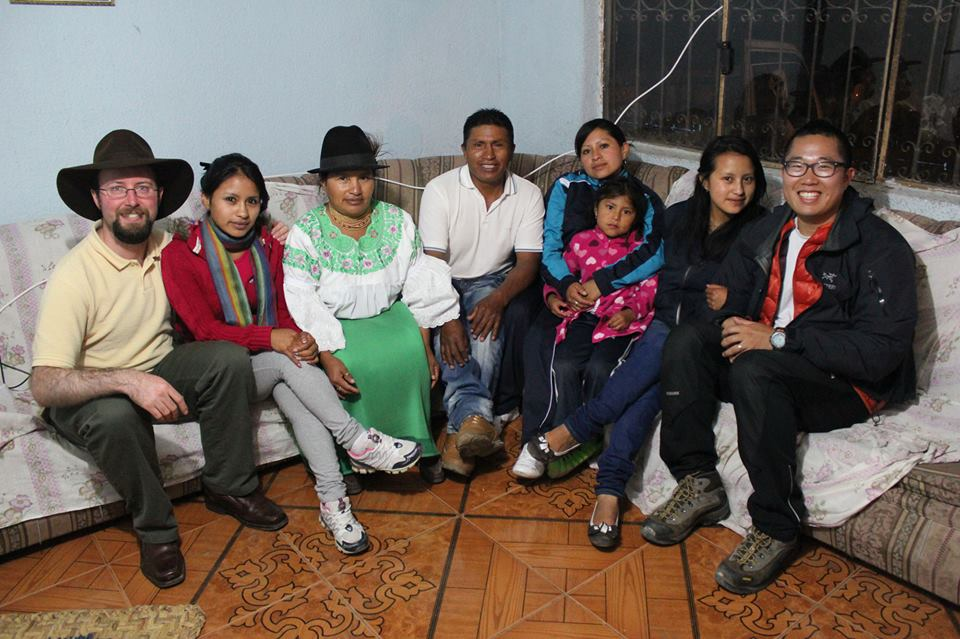 With family in indigenous community of Pijal